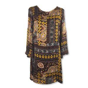 Romeo & Juliet Couture Bell Sleeve Boho Dress M